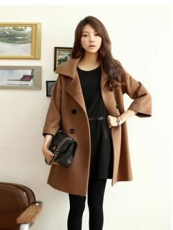 PAIYE CAMEL COAT [ เสื้อโค้ทกันหนาว ทรงหลวม สไตล์เกาหลี ดีไซน์หรู คุณภาพดีมาก ] พร้อมส่ง